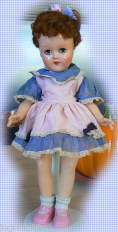 1950s Ideal P 90 Toni Doll in Original Tagged Dress A Beauty | eBay