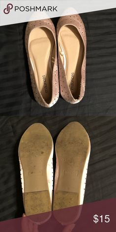 Nude studded pointed toe flats Purchased, but they're about half a size too small. Never been worn, except to try on. Offers welcome! Maurices Shoes Flats & Loafers