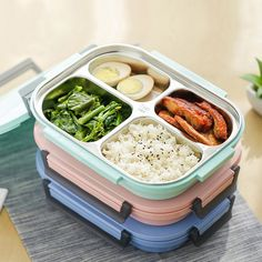 UPSTYLE 18/8 Stainless Steel Lunch Box Kit Set, All-in-one Stylish Food Storage Container For Adults, Kids - Modern Square Design With Cutlery-Eco-Friendly (800ml Pink): Amazon.co.uk: Kitchen & Home