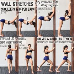 """1,568 Likes, 16 Comments - Roxanne Gan (@roxanne_yoga) on Instagram: """"WALL STRETCHES ♡ You will see me doing this all the time whenever I see a wall because it just…"""""""
