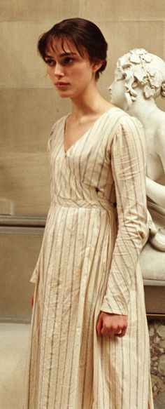 Dress from Pride and Prejudice 2005. Does anyone else want to make one of these as a super warm and comfortable church dress?