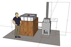 DIY Wood Fired Hot Tub Horká koupel