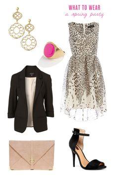 Love the blazer, dress and earrings!