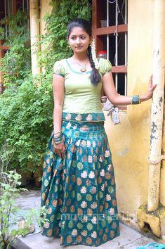 Reshmi Menon Stills in Pavadai Chattai Dress