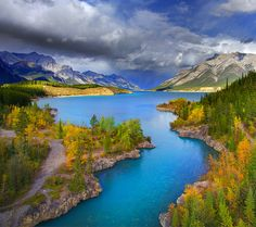 Abraham Lake in the Summer