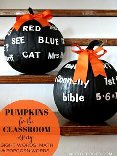 DIY Halloween : DIY Make Pumpkins for the Classroom and for your Teachers