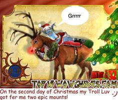 World of Warcraft by Tom Butler  Created for Top10WoWGuiges.com  On the second day of Christmas....  #WoW