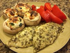Try this delicious Pesto Tilapia with Stuffed Mushrooms Medifast recipe. This is a lean and green recipe, which is compliant with the Take Shape For Life program.