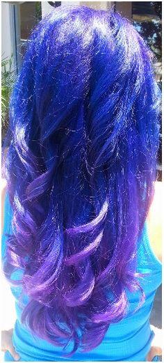 My purple blue magenta hair June 19, 2013