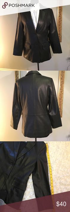 Lord & Taylor leather Blazer Lord & Taylor Supersoft leather Blazer. Size is a petite medium. Lord & Taylor Jackets & Coats