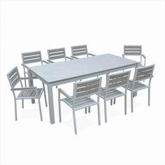 Salon De Jardin Vasto Table En Résine Tressée 8 à 12 Places