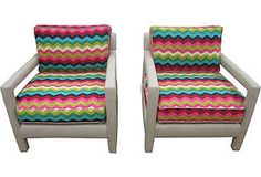 One Kings Lane - Spirit of the Southwest - Chevron Chairs, Pair