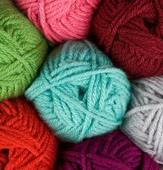This would make something awesome.  And it is super cheap!  Check out the pretty colors!  Brava Bulky Yarn