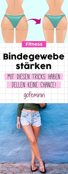 Strengthening weak connective tissue: Dents have no chance!- Schwaches Bindegewebe stärken: So haben Dellen keine Chance! Smooth skin: With these tricks you strengthen your connective tissue! Fitness Workouts, Tips Fitness, Health Fitness, Yoga Workouts, Fitness Classes, Women's Fitness, Beauty Kit, Beauty Hacks, Diy Beauty