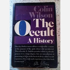 """Colin Wilson's """"The Occult: A History"""" - 1971- now featured on Fab."""