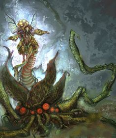 """concept art of Flaahgra, plant-themed second major boss from """"Metroid Prime"""""""
