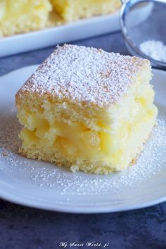 pl 2017 02 yummy-cake-with-cream-lemon-pineapple-and-pineapple-pieces www.pl 2017 02 yummy-cake-with-cream-lemon-pineapple-and-pineapple-pieces Sponge Cake Recipes, Easy Cake Recipes, Sweet Recipes, Baking Recipes, Dessert Recipes, Sweet Desserts, Holiday Desserts, Polish Desserts, Delicious Deserts