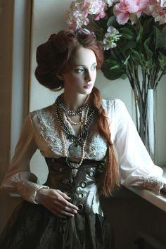 Steampunk Girl #steampunkfashion,