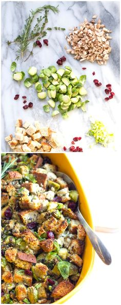 Gluten-Free Herb Stuffing with Brussels Sprouts & Cranberries
