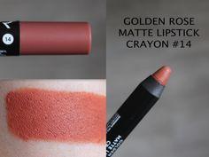 MAKEUP ARENA: Golden Rose Matte Lipstick Crayon - 14