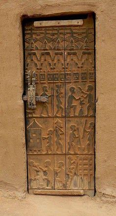 "africandiversity: "" More on Dogon architecture. See our last post on Dogon architecture. The joy is in the details. Above are details found in Dogon architecture. The Dogon people are an ethnic group. Knobs And Knockers, Door Knobs, Door Handles, Cool Doors, Unique Doors, Entrance Doors, Doorway, Gazebos, When One Door Closes"