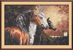 Just Cross Stitch Patterns (p. 171) | Three Beautiful horses 1
