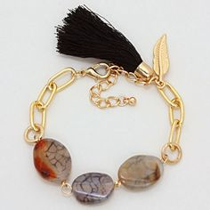 Agate Drake Bracelet in Slate on Emma Stine Limited