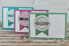 born2stamp STAMPIN' UP! Sale-a-bration SAB Mein Medaillon - Glitzerpapier