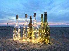 Wine Bottle Crafts DIY Wedding String Lights for Wine