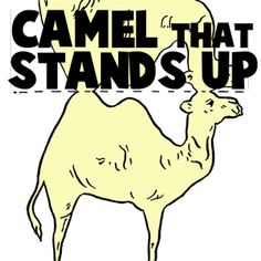Camel Stand-Up Paper Toy Model to Print Out Craft for Kids