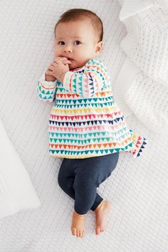 Buy Multicoloured Print Tunic And Leggings Set (0-18mths) from the Next UK online shop