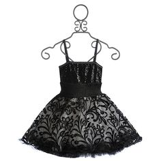 Ooh La La Couture Black Wow Lace Dress (465 BRL) ❤ liked on Polyvore featuring kids and baby