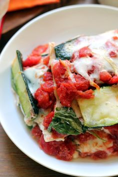 A lighter of version of Italian comfort, this zucchini ribbon lasagna replaces most of the lasagna noodles with zucchini so that you get all the cheesy deliciousness with less of the guilt!
