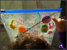 De tout et de rien: Activités pour le Préscolaire: Easter sensory bag - Sac tactile de Pâques