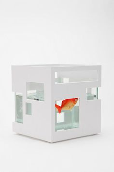 the Modular Fish Hotel: a modern, stylish home, a classy aquarium that lets you stack to maximize space. Amass several Fish Hotels to create a great-looking fish condominium in your home or office.