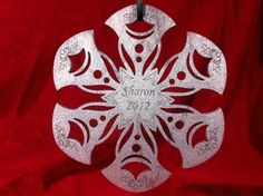 Snowflake Ornament. $6 Personalized.