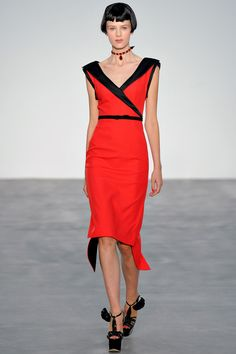 Because every closet needs that Touch of Red and L'Wren Scott's Asian inspiration creates a '40's Feel Dress that Opens Doors.   L'Wren Scott Spring 2014 Ready-to-Wear Collection Slideshow on Style.com