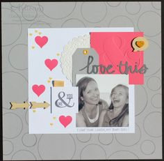 Circle Love This Scrapbook Page by Nutmeg Creations' Cindy Schuster