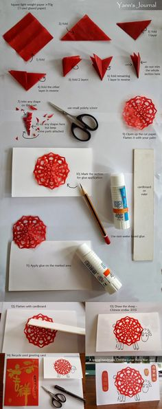 Make these awesome (and super easy) Lunar New Year Greeting Cards to invite your family to the celebration!