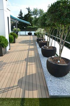 bepflanzung  dachterrasse groß balkon