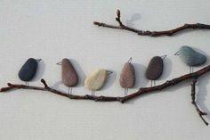 Decorazioni strane per pareti interne - Pietre uccelli per pareti