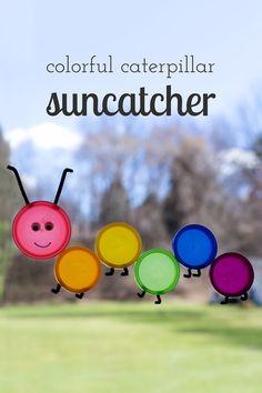 How to Make a Colorful Caterpillar Suncatcher