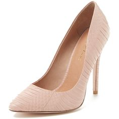 Maiden Lane Elana Pointed-Toe Pump (3.760 RUB) ❤ liked on Polyvore featuring shoes, pumps, heels, gilt, pink, snake pumps, high heel court shoes, high heeled footwear, pink shoes and pointed toe pumps