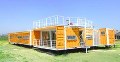 Some pretty cool container home designs. Container Home Designs, Container Homes For Sale, Storage Container Homes, Building A Container Home, Container Buildings, Container Architecture, Cargo Container, Container House Plans, Architecture Design