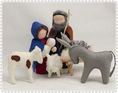 Conjunto 5 piezas Waldorf Natividad. Navidad. por GenuineDolls