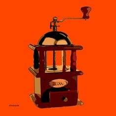 "Saatchi Art Artist ACQUA LUNA; Painting, ""70-POP Art. Molinillo de Café."" #art"
