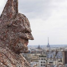 Artist Creates A Wearable Batman Cowl Made Out Of Tree Bark