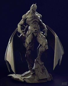 [image] Title: Bat Mech Name: Geng Gi Country: Thailand Software: ZBrush max Photoshop Submitted: August 2015 Hi, everyone This is my first model working with Studio Hive. Based on a concept by Skan Sris… Zbrush, Batman Kunst, Batman Art, Superman, Comic Book Characters, Fantasy Characters, Armor Concept, Concept Art, Comic Character