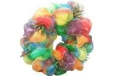 Deco mesh tie-dye wreath