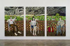 Raffi Kalenderian  Highlanders  2008 Oil on canvas (triptych) 213.4 x 137.2 cm each panel